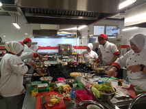 1st Sept 2016, Shah Alam. Bachelor of Culinary Art Student practical session. The Bachelor in Culinary Arts (BCA) is an undergraduate academic programme that stock image