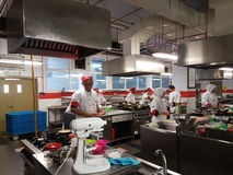 1st Sept 2016, Shah Alam. Bachelor of Culinary Art Student practical session Royalty Free Stock Photo