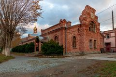 St. Seraphim Monastery for men on Russky Island. VLADIVOSTOK, RUSSIA - OCTOBER 27, 2018: St. Seraphim Monastery for men on Russky Island in Vladivostok royalty free stock image