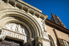 St Sernin大教堂在图卢兹 库存照片