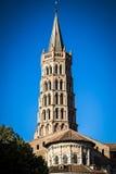 St Sernin大教堂在图卢兹 免版税图库摄影