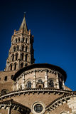 St Sernin大教堂在图卢兹 免版税库存图片