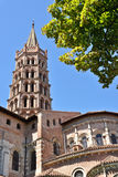 St Sernin Basilic in Toulouse. France Stock Photography