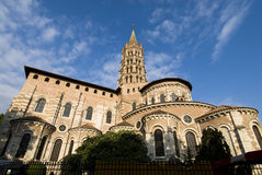 St Sernin Basilica in Toulouse Stock Image