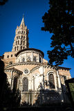 St. Sernin Basilica in Toulouse. St. Sernin Basilica, It was built in the Romanesque style between about 1080 and 1120, Toulouse, France. The view of bell tower Royalty Free Stock Image