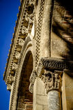 St. Sernin Basilica in Toulouse. St. Sernin Basilica, It was built in the Romanesque style between about 1080 and 1120, Toulouse, France. The view of bell tower Royalty Free Stock Photos
