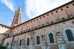 St Sernin Church imagem de stock royalty free