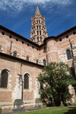 St Sernin Church. In France, Toulouse, south west Europe within the pink city Stock Photo