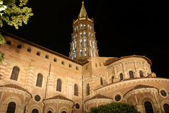 St Sernin in Toulouse. Nocturnal image of famous church St Sernin in Toulouse , France Royalty Free Stock Photos