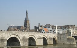St. Servaas bridge in Maastricht Stock Images