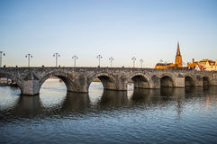 St Servatius Bridge a Maastricht fotografia stock