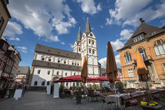 St severus church boppard germany. The st severus church boppard germany Royalty Free Stock Images