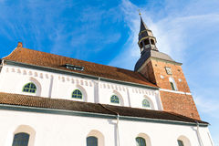 St Simon church in Valmiera. Latvia. St Simon church against blue sky in Valmiera. Latvia Stock Photography