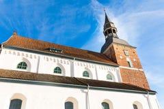 St Simon kościół w Valmiera Latvia fotografia stock