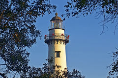 St. Simons Island Lighthouse at Christmas time Stock Photography
