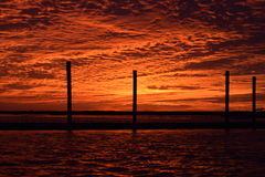 St. Simons sunset from morning star Stock Image