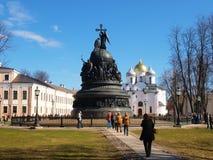 St. Sofia de kathedraal en het monument voor Rusland millen royalty-vrije stock afbeeldingen