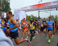 31st Sofia International maratonstart Royaltyfri Fotografi