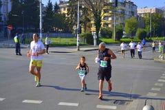 31st Sofia Marathon konkurrenter Arkivbild