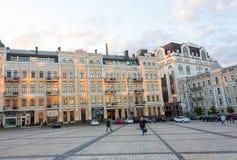 St Sofia Vierkant in Kiev stock foto