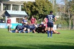 2009 21st som februari för bolldorset motsättande packe för den östliga eastleigh matchen satte ner rugbyscrumlag två uk vs Arkivfoton
