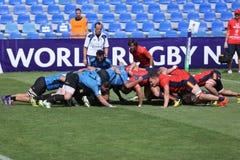 2009 21st som februari för bolldorset motsättande packe för den östliga eastleigh matchen satte ner rugbyscrumlag två uk vs Arkivfoto