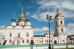 St Sophia-Assumption Cathedral in Tobolsk Kremlin Stock Images