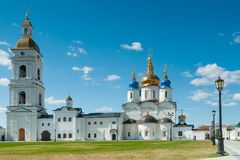 St Sophia-Assumption Cathedral in Tobolsk Kremlin Stock Image