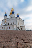 St Sophia-Assumption Cathedral in Tobolsk Kremlin. Tobolsk Kremlin complex. St Sophia-Assumption Cathedral. 1587 foundation year Royalty Free Stock Image