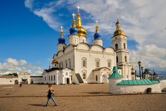 St Sophia-Assumption Cathedral in Tobolsk Kremlin Royalty Free Stock Photography