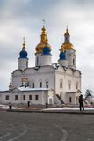 St Sophia-Assumption Cathedral in Tobolsk Kremlin. Tobolsk, Russia - March 5, 2009: Kremlin. St Sophia-Assumption Cathedral. 1587 foundation year Royalty Free Stock Image