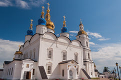 St Sophia-Assumption Cathedral in Tobolsk Kremlin. Siberia. Russ Royalty Free Stock Photo
