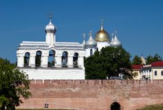 St. Sophia Cathedral and Bell Tower Stock Image
