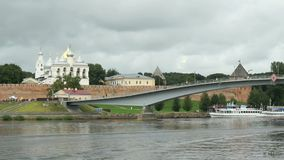 St. Sophia Cathedral in Veliky Novgorod, Russia stock video