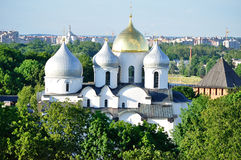 St.Sophia Cathedral  from bird's eye view, Veliky Novgorod Stock Photos