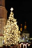 St. Sophia Cathedral and Christmas tree in Kyiv Stock Images