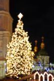 St. Sophia Cathedral and Christmas tree in Kyiv Stock Image