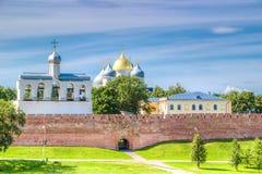 St Sophia Cathedral de Rusia Veliky Novgorod el Kremlin Fotos de archivo libres de regalías