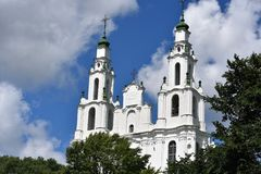 St Sophia Cathedral en Polotsk Bielorrusia fotos de archivo