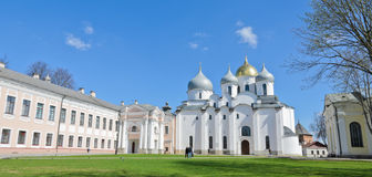 St. Sophia cathedral. Cathedral of Holy Wisdom of God in Novgorod Kremlin, Russia stock photography