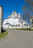 St. Sophia cathedral. Or Cathedral of Holy Wisdom of God in Novgorod Kremlin, Russia Stock Images
