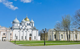 St. Sophia cathedral. Or Cathedral of Holy Wisdom of God in Novgorod Kremlin, Russia stock image