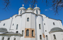St. Sophia cathedral. Or Cathedral of Holy Wisdom of God in Novgorod, Russia stock image