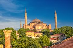 St. Sophia Cathedral , Istanbul, Turkey stock photography