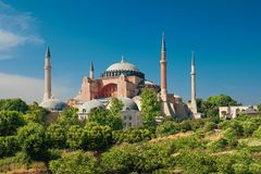 St. Sophia Cathedral , Istanbul, Turkey. On a bright day stock photography
