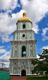 St.Sophia Cathedral in Kiev. Bell tower of the orthodox St.Sophia Cathedral in Kiev, Ukraine. Vertical panorama royalty free stock image