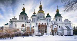 St Sophia cathedral in Kiev in snow Royalty Free Stock Photo