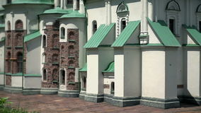 St. Sophia Cathedral in Kiev, Ukraine. Model of St. Sophia Cathedral in Kiev, Ukraine an outstanding architectural monument of Kievan Ruslocated in Minimundus in stock video