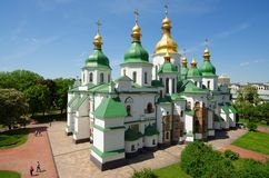 St. Sophia Cathedral in Kiev, Ukraine. Seen from the belfry Royalty Free Stock Photography