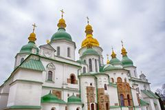 St. Sophia Cathedral, Kiev, Ukraine. Walk around the city royalty free stock image